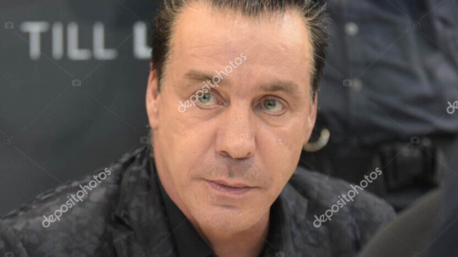 Frankfurt, Germany. 14th Oct, 2017. Till Lindemann, front singer/songwriter of band Rammstein, at Frankfurt Bookfair / Buchmesse Frankfurt 2017
